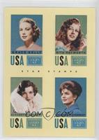 Claudette Colbert, Grace Kelly, Jacqueline Kennedy, Rita Hayworth
