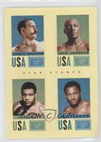 Jack Johnson, Joe Frazier, John L. Sullivan, Joe Louis