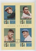 Bobby Jones, Gene Tunney, Jim Thorpe, Walter Hagen