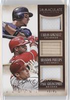 Brandon Phillips, Carlos Gonzalez, Paul Goldschmidt /49