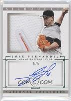 Distributed in 2015 National Treasures - Jose Fernandez /5