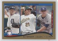 AL Wins Leaders (Max Scherzer, Bartolo Colon, Matt Moore) /2014