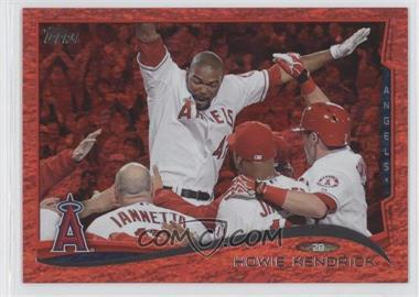 2014 Topps - [Base] - Red Hot Foil #185 - Howie Kendrick