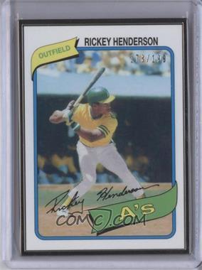 2014 Topps - Framed Rookie Reprints - Black #482 - Rickey Henderson /199