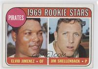 1969 Rookie Stars (Elvio Jimenez, Jim Shellenback) [Good to VG‑…