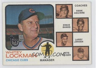 2014 Topps 75th Anniversary Buybacks #1973-81 - Cubs Field Leaders (Whitey Lockman, Hank Aguirre, Ernie Banks, Larry Jansen, Pete Reiser)