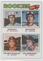 Doug Ault, Rich Dauer, Orlando Gonzalez, Phil Mankowski