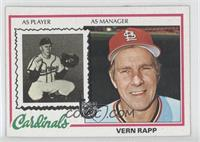 Vern Rapp [Good to VG‑EX]