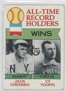 2014 Topps 75th Anniversary Buybacks #1979-416 - All-Time Record Holders: Wins (Jack Chesbro, Cy Young) [GoodtoVG‑EX]