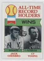 All-Time Record Holders: Wins (Jack Chesbro, Cy Young)