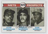 Mets Prospects (Juan Berenguer, Dwight Bernard, Dan Norman)