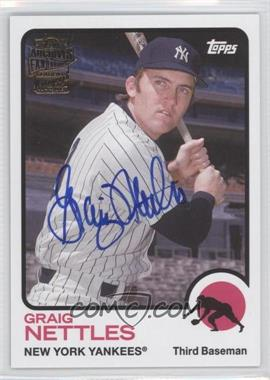 2014 Topps Archives Fan Favorites Autographs #FFA-GN - Graig Nettles