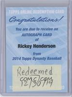 Rickey Henderson [REDEMPTION Being Redeemed]