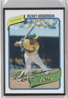 2014 Topps Framed Rookie Reprints Black #482 - Rickey Henderson /199