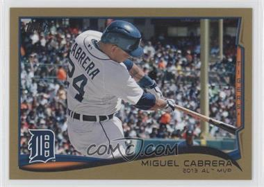 2014 Topps Gold #335 - Miguel Cabrera /2014
