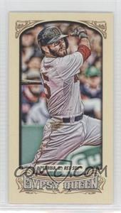 2014 Topps Gypsy Queen Mini #143.2 - Dustin Pedroia (Green Wall in Background)