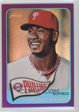 2014 Topps Heritage - [Base] - Chrome Purple Refractor #THC-310 - Domonic Brown