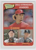 American League 2013 Strikeout Leaders (Yu Darvish, Max Scherzer, Chris Sale)