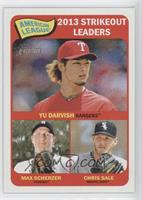 American League 2013 Strikeout Leaders (Yu Darvish, Max Scherzer, Chris Sale)
