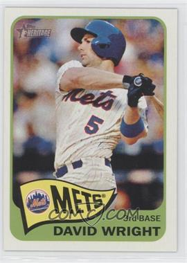 2014 Topps Heritage - [Base] #284.2 - David Wright (Action Variation)