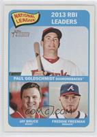 National League 2013 RBI Leaders (Paul Goldschmidt, Jay Bruce, Freddie Freeman)
