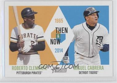 2014 Topps Heritage - Then & Now #TAN-CC - Roberto Clemente, Miguel Cabrera