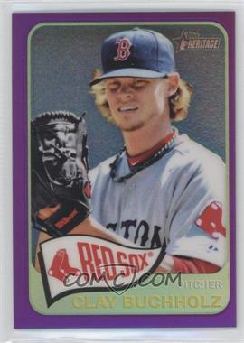 2014 Topps Heritage Chrome Purple Refractor #THC-213 - Clay Buchholz