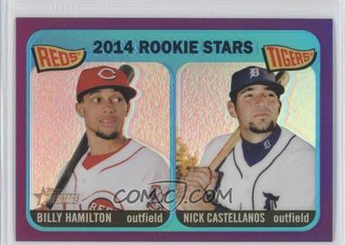 2014 Topps Heritage Chrome Purple Refractor #THC-243 - 2014 Rookie Stars (Billy Hamilton, Nick Castellanos)