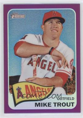 2014 Topps Heritage Chrome Purple Refractor #THC-250 - Mike Trout