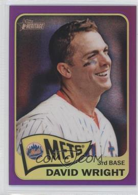 2014 Topps Heritage Chrome Purple Refractor #THC-284 - David Wright