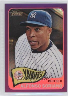 2014 Topps Heritage Chrome Purple Refractor #THC-350 - Alfonso Soriano
