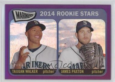 2014 Topps Heritage Chrome Purple Refractor #THC-354 - 2014 Rookie Stars (Taijuan Walker, James Paxton)