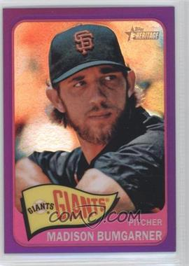 2014 Topps Heritage Chrome Purple Refractor #THC-428 - Madison Bumgarner
