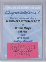 Willie Mays /25 [REDEMPTION Being Redeemed]