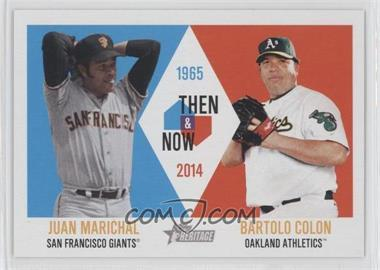 2014 Topps Heritage Then & Now #TAN-MC - Juan Marichal, Bartolo Colon