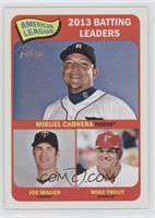 American League 2013 Batting Leaders (Miguel Cabrera, Joe Mauer, Mike Trout)