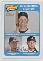 National League 2013 Batting Leaders (Michael Cuddyer, Chris Johnson, Freddie F…