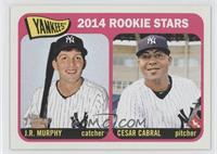 2014 Rookie Stars (J.R. Murphy, Cesar Cabral)