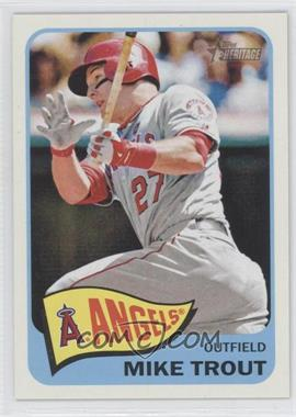 2014 Topps Heritage #250.3 - Mike Trout (Action Image Variation)
