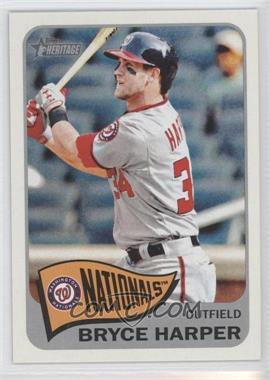 2014 Topps Heritage #400.3 - Bryce Harper (Action Image Variation)