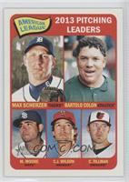 American League 2013 Pitching Leaders (Max Scherzer, Bartolo Colon, Matt Moore,…