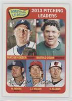 American League 2013 Pitching Leaders (Max Scherzer, Bartolo Colon, Matt Moore,…