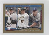 AL Wins Leaders (Max Scherzer, Bartolo Colon, Matt Moore) /63
