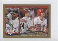 NL Home Run Leaders (Pedro Alvarez, Miguel Gonzalez, Paul Goldschmidt) /63