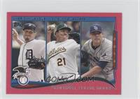 AL Wins Leaders (Max Scherzer, Bartolo Colon, Matt Moore) /25