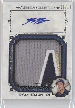 2014 Topps Museum Collection - Momentous Material Jumbo Relic Autographs #MMAR-RB - Ryan Braun /10