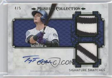 2014 Topps Museum Collection - Single-Player Signature Swatches Dual - Patch #SSD-TTU - Troy Tulowitzki /5