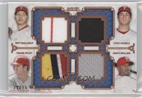 Roy Halladay, Cole Hamels, Chase Utley, Jimmy Rollins /75