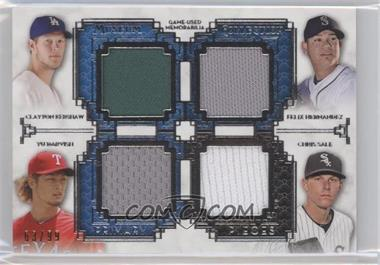 2014 Topps Museum Collection Four-Player Primary Pieces Quad Relics #PPFQR-21 - Clayton Kershaw, Felix Hernandez, Yu Darvish, Chris Sale /99