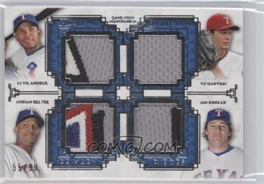 2014 Topps Museum Collection Four-Player Primary Pieces Quad Relics #PPFQR-23 - Elvis Andrus, Yu Darvish, Adrian Beltre, Ian Kinsler /99